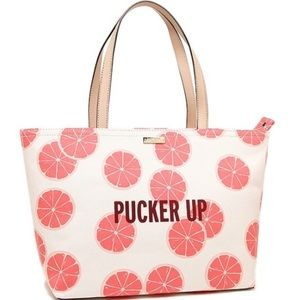 New with tags Kate Spade Pucker Up Summer Tote Bag